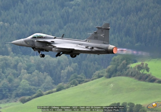 2019-09-07 - Zeltweg - Airpower - 5632 - Saab JAS 39 Gripen - Hungarian Air Force