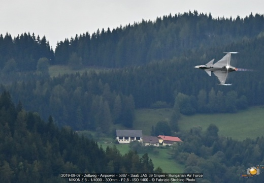 2019-09-07 - Zeltweg - Airpower - 5687 - Saab JAS 39 Gripen - Hungarian Air Force