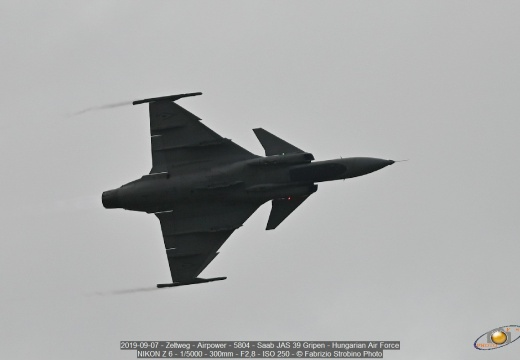 2019-09-07 - Zeltweg - Airpower - 5804 - Saab JAS 39 Gripen - Hungarian Air Force