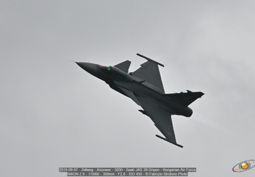 2019-09-07 - Zeltweg - Airpower - 5830 - Saab JAS 39 Gripen - Hungarian Air Force